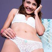 Adria Slowly Strips Naked