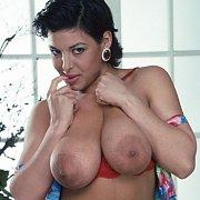 Classic Big Boobs Latina Strips Naked In Heels