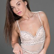 Brunette Erotica Model In Pretty Lingerie