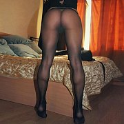 Sweet Ass Pantyhose Amateur In Bedroom