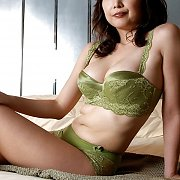 Sexy Asian Milf In Her Green Bra And Panties