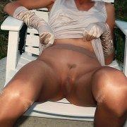 Silky Sheer Pantyhose Milf In A Chair