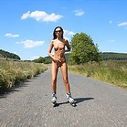 Roller Skating Naked In The Country