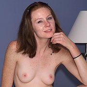 Slender Freckled Coed Nude On The Bed