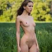 Erotic Nude Brunette Outdoors