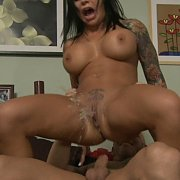 Busty Tattooed Porn Mom Squirts During Sex