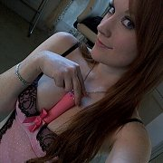 Lusty Toying Lingerie Redhead