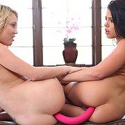 Double Anal Toying Lesbian Fun