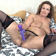 Hairy Milf Pussy Gets A Toy Banging
