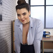 Big Titties Office Girl Cleavage