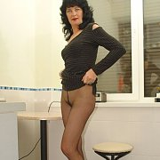 Milf In Pantyhose At The Office