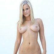 Beautiful Busty Blonde Miela Spreading