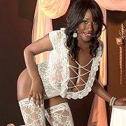 Pretty Black Woman Wearing Lingerie