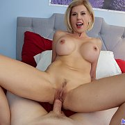 Blonde MILF Amber Chase Got Massive Boobs