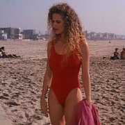Classic Kelly Preston In Red Swimsuit