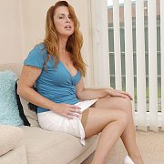 Stockings Milf Redhead Teasing In Her Heels