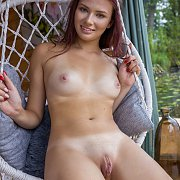 Sexy Ass Nude Redhead Laying On The Couch