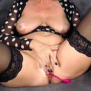 Mature Stockings Woman Masturbating
