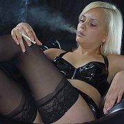 Smoking Blonde Amateur In Stockings