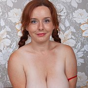 Big Boobs Freckled Redhead With Pigtails