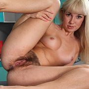 Furry Muff Blonde Chick With Freckles