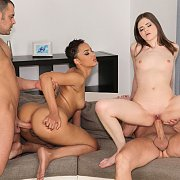 Interracial Group Anal Bang On The Furniture