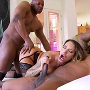 Interracial Anal MMF Threesome