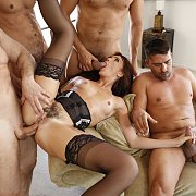 Anal Gangbang Of Bianca Breeze In Stockings
