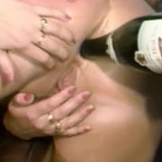 Bottle Going Up Her Classic Butt