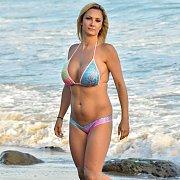 Lusty And Busty Bikini Milf At The Beach