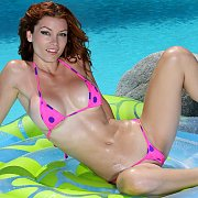 Polka Dots Bikini On Heather Vandeven