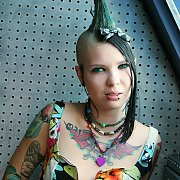 Punk Babe With Mohawk