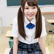 18 Year Old Asian Cutie In Uniform With Pigtails