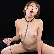 Mouth Open Naked Asian Waiting On Her Knees