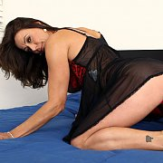Lusty Milf In Lingerie Crawling On The Bed