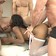 Black Teen Gets A White Gangbang