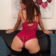 Sexy Ass Babe In Teddy Lingerie