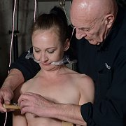 Table Tied Lolanis Nipple And Pussy Torture