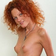 Tiny Breasts Freckled Redhead Topless