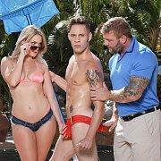 Pool Boy Wolf Hudson Has A Naughty Bi Threesome
