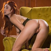 Alluring Redhead Model Becomes Nude