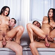 Sweet Reverse Anal Cowgirl Foursome Action