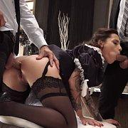 Maid Gets Double Penetration Gangbang