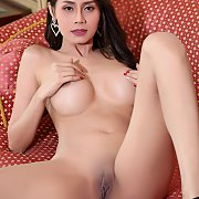 Naked Shaven Asian Pussy On Display
