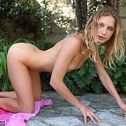 Slender Nude Beauty Clarice Outside