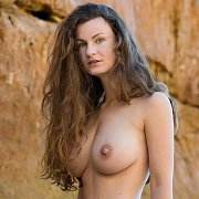 Big Tits Nude Beach Babe Posing