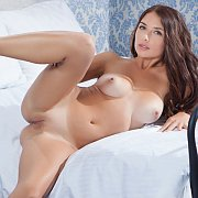 Brunette Beauty With Erotic Tan Lines