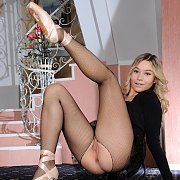 Young Dancer In Fishnets