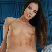 Slender Erotic Nude With Tiny Boobs