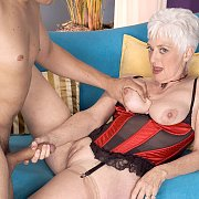 Silver Haired Mature Gets A Stud